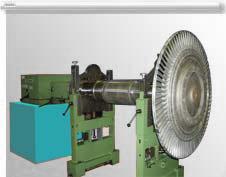 Балансировка ротора турбины на станке SCHENK H60V